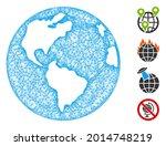 mesh planet earth web icon... | Shutterstock .eps vector #2014748219