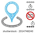 mesh place marker web icon... | Shutterstock .eps vector #2014748240