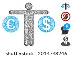 mesh person compare dollar and... | Shutterstock .eps vector #2014748246
