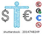 mesh person compare euro dollar ... | Shutterstock .eps vector #2014748249