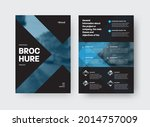 vector brochure template with... | Shutterstock .eps vector #2014757009