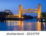 Raised Tower Bridge At Night ...