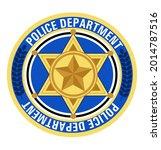police badge vector. sheriff ... | Shutterstock .eps vector #2014787516