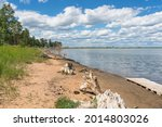 Sandy Coast Of Lake Malinovoe...