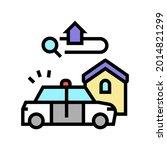 crime in area color icon vector.... | Shutterstock .eps vector #2014821299