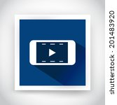 icon of video for web and...