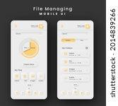 file managing mobile ui kit...