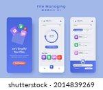 file managing mobile ui splash...