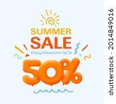 special summer sale banner 50 ...   Shutterstock .eps vector #2014849016
