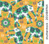 seamless pattern with cute... | Shutterstock .eps vector #201484964