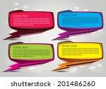 trendy  abstract origami speech ... | Shutterstock .eps vector #201486260