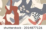 floral dotted pattern with... | Shutterstock .eps vector #2014877126