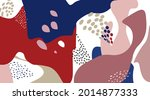 floral dotted pattern. fall... | Shutterstock .eps vector #2014877333