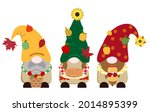Cute Fall Vector Gnomes...
