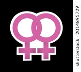 lgbtqia pink sticker. lesbian...   Shutterstock .eps vector #2014895729