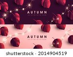 autumn banner background with... | Shutterstock .eps vector #2014904519