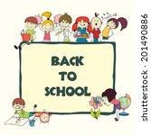 decorative back to school... | Shutterstock .eps vector #201490886