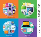 business steps concept... | Shutterstock .eps vector #201491633