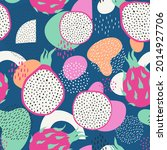seamless pattern with abstract...   Shutterstock .eps vector #2014927706