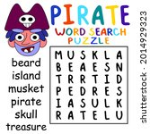 simple pirate word search... | Shutterstock .eps vector #2014929323