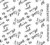 love you hearts romantic... | Shutterstock .eps vector #2014929980