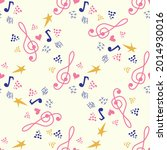 classic musical patterns  with... | Shutterstock .eps vector #2014930016