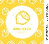 national lemon juice day...   Shutterstock .eps vector #2014930823