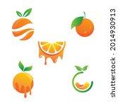 orange logo design vector icon...   Shutterstock .eps vector #2014930913