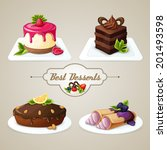 decorative sweets food best... | Shutterstock .eps vector #201493598