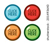 cartoon click here buttons | Shutterstock .eps vector #201493640