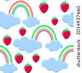 pattern strawberry falls from... | Shutterstock .eps vector #2014937660