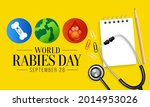 world rabies day is observed... | Shutterstock .eps vector #2014953026