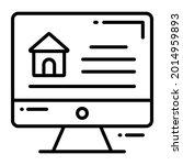 online house trendy icon  line...