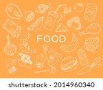 set with isolated food objects. ...   Shutterstock .eps vector #2014960340