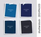 vector set of photo frames. | Shutterstock .eps vector #201496103