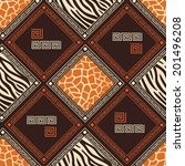 abstract african seamless... | Shutterstock .eps vector #201496208