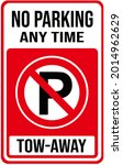 A Sign That Says   No Parking...