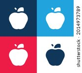 apple blue and red four color...   Shutterstock .eps vector #2014973789