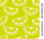 lemon lime seamless colored...   Shutterstock .eps vector #2014981109