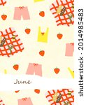 June Illustration. Summer Vibe. ...