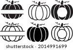 vector set of pumpkins in flat... | Shutterstock .eps vector #2014991699