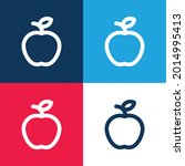 apple blue and red four color...   Shutterstock .eps vector #2014995413