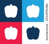 apple blue and red four color...   Shutterstock .eps vector #2014996586