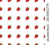 vector strawberry seamless...   Shutterstock .eps vector #2015001779
