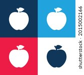 apple blue and red four color...   Shutterstock .eps vector #2015002166
