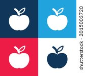 apple fruit blue and red four...   Shutterstock .eps vector #2015003720