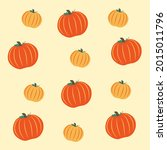halloween seamless pattern with ...   Shutterstock .eps vector #2015011796