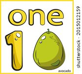 numbers and fruits. number one...   Shutterstock .eps vector #2015012159