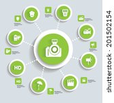 photography concept info...   Shutterstock .eps vector #201502154