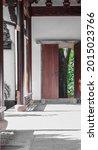 Wooden Open Door At Traditional ...